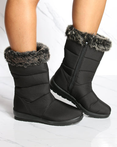 VIM VIXEN Nivea Snow Boot - Black - ShopVimVixen.com