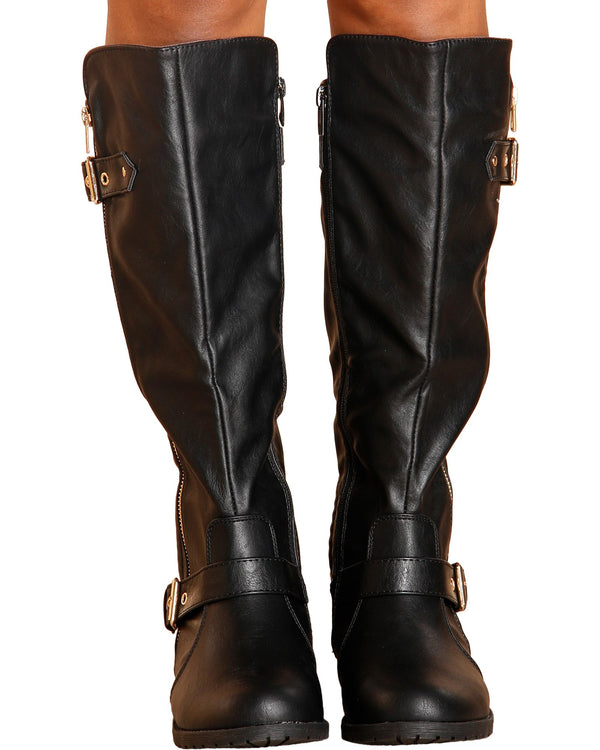 VIM VIXEN Mango Riding Boot - Black - ShopVimVixen.com