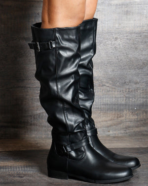 VIM VIXEN Brielle Knee High Boots - Black - ShopVimVixen.com