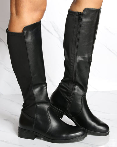VIM VIXEN Linda Half Riding Boot - Black - ShopVimVixen.com