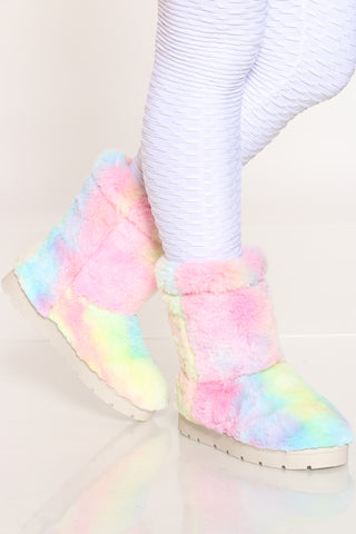 Women's Faux Fur Shaft Boot - Multi-VIM.COM