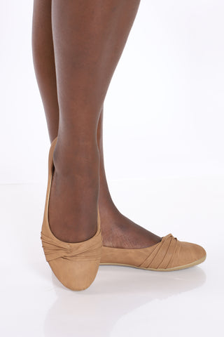 Women's Ballerina Shoe - Tan-VIM.COM