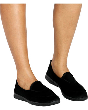 Women's Lorita Memory Foam Shoe - Black-VIM.COM