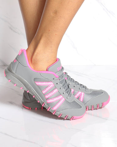 Women's Shona Low Top Sneaker - Grey Pink-VIM.COM