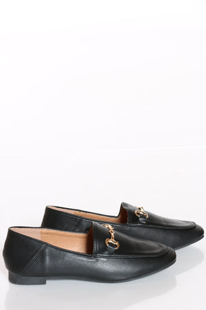 Women's Buckle Loafer - Black