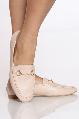 Women's Buckle Loafer - Nude-VIM.COM