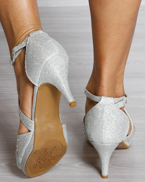 VIM VIXEN Excited Low Heel - Silver - ShopVimVixen.com