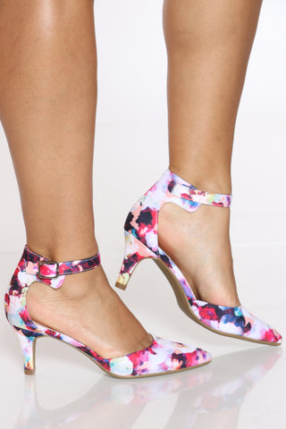 Women's Pointy Low Heel - Floral-VIM.COM