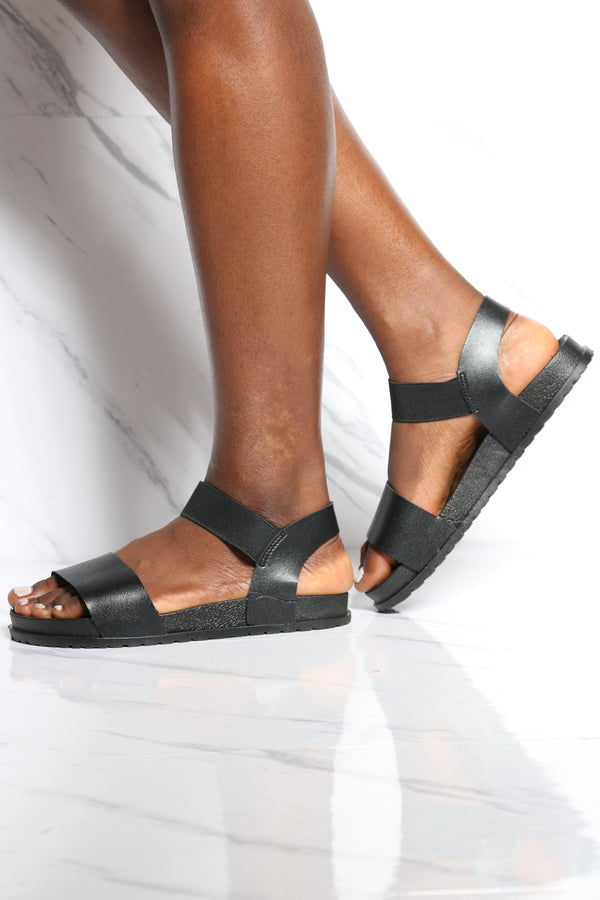 Women's Boxed Soft Insole Light Weight Sandal - Black