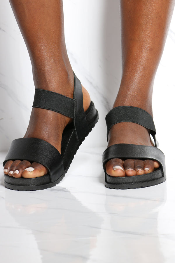 Women's Boxed Soft Insole Light Weight Sandal - Black-VIM.COM