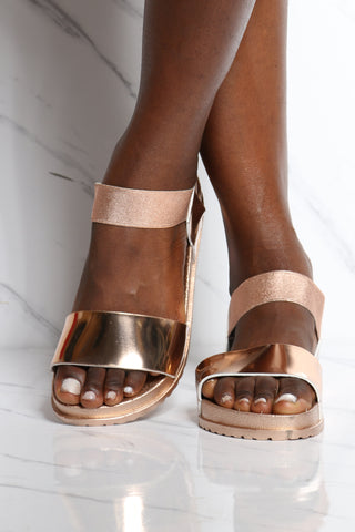 Women's Boxed Soft Insole Light Weight Sandal - Rose Gold-VIM.COM