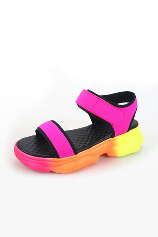 Women's Monica Velcro Sporty Sandal - Hot Pink