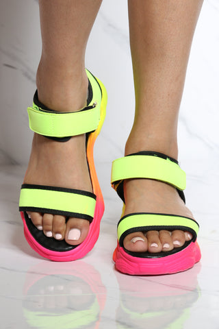 Women's Monica Velcro Sporty Sandal - Yellow