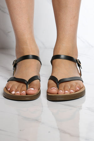 Women's Soft Bottom Sandal - Black