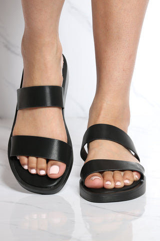 Women's Aria 2 Band Soft Sandal - Black