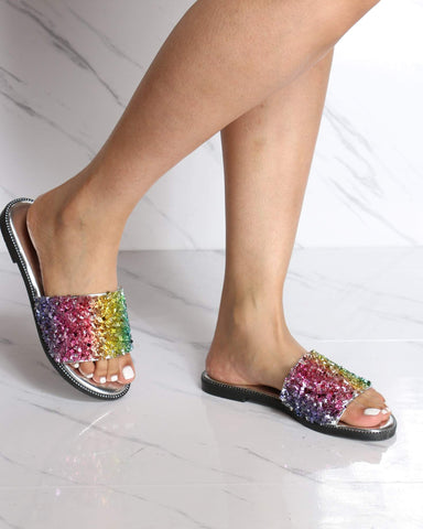 Women's Jade Shining Slide - Rainbow-VIM.COM