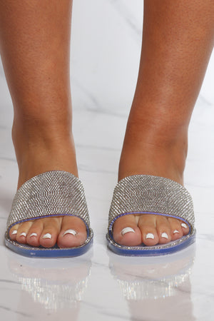 Women's One Band Jelly Rhinestone Flip Flop - Clear