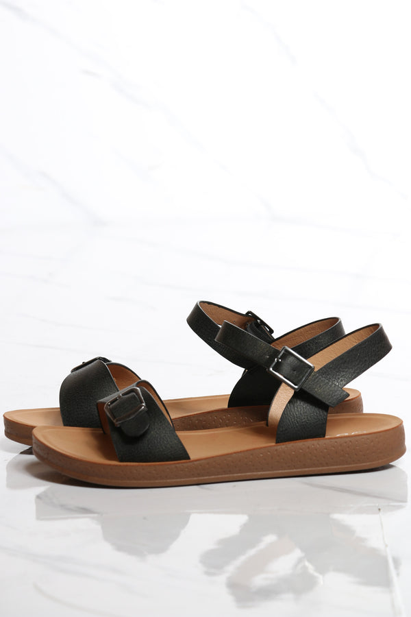 Women's Soft Bottom Comfort Sandal - Black