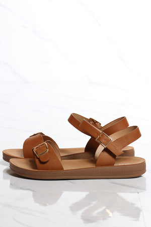 Women's Soft Bottom Comfort Sandal - Tan