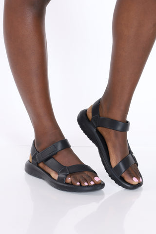 Women's Velcro Sandal - Black