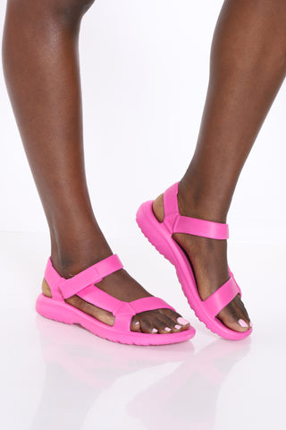 Women's Light Weighed Velcro Sandal - Pink