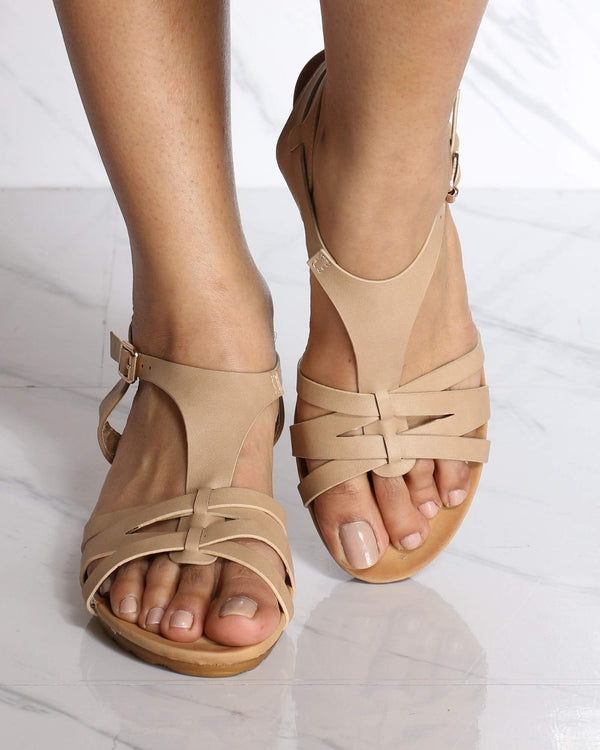 Women's Laureen Strappy Wedge Sandal - Taupe