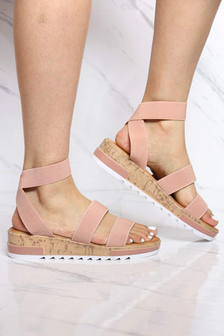 Women's Annie Elastic Wedge Sandal - Dusty Pink-VIM.COM