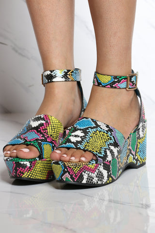 Women's Ankle Strap Wedge - Multi