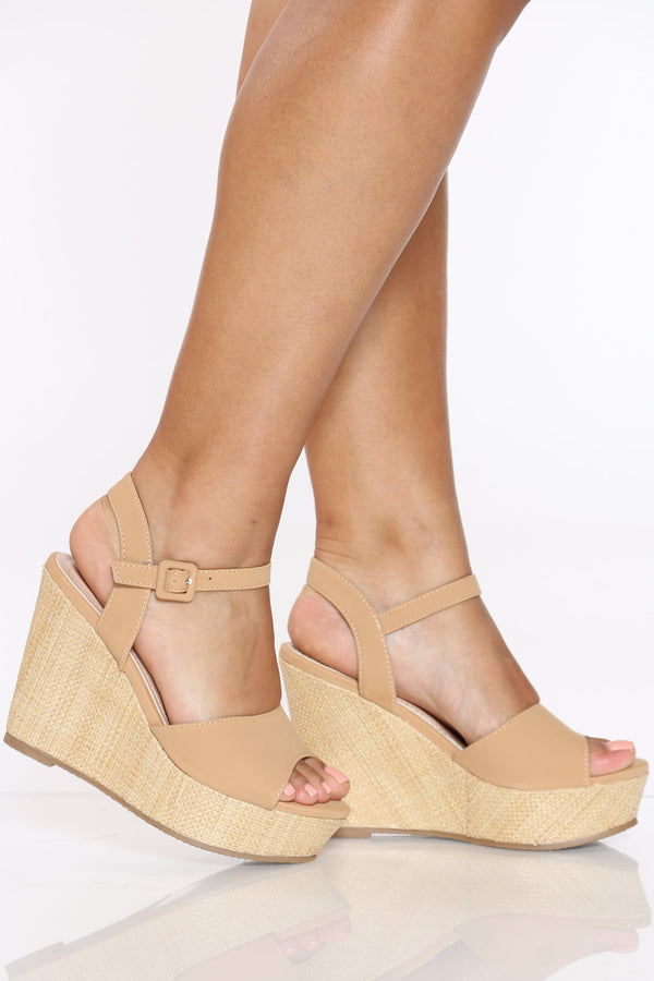 Women's Ankle Strap Wedge - Tan-VIM.COM