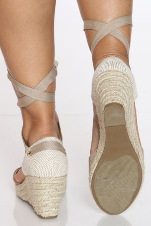 Women's Espadrille Wedge - Taupe