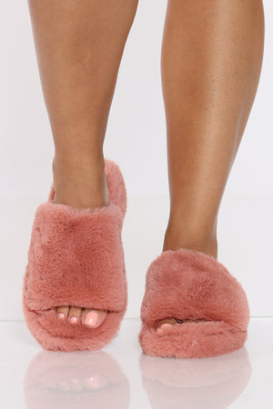 Women's Blush Fur Sandal - Blush-VIM.COM