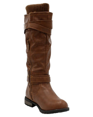 Girls Three Buckle Riding Boots
