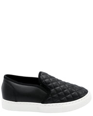 Anna Girl'S Quilted Comfort Slip-On Fashion Sneaker - Black - Vim.com