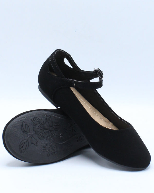 Girls Mary Jane Ballet Flat (Pre School/Grade School) - Black-VIM.COM