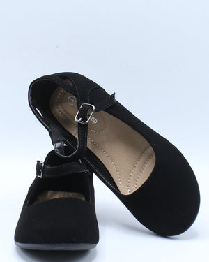 Girls Mary Jane Ballet Flat (Pre School/Grade School) - Black