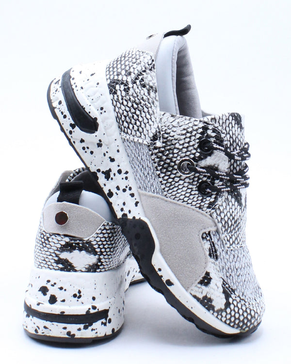 Kid's Fashion Sneaker - White Snake-VIM.COM