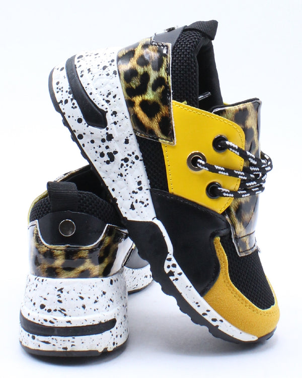 Kid's Fashion Sneaker - Yellow Snake-VIM.COM