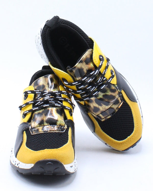 Kid's Fashion Sneaker - Yellow Snake
