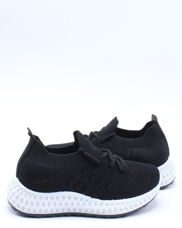 Kid's Fly Net Slip On Sneaker (Pre School/Grade School) - Black