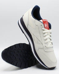 REEBOK Men'S Classic Leather Mu Sneaker - Chalk Navy Red - Vim.com