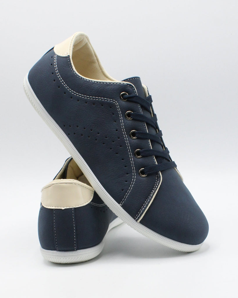 VIM Men'S Lace Up Casual Sneaker - Navy - Vim.com