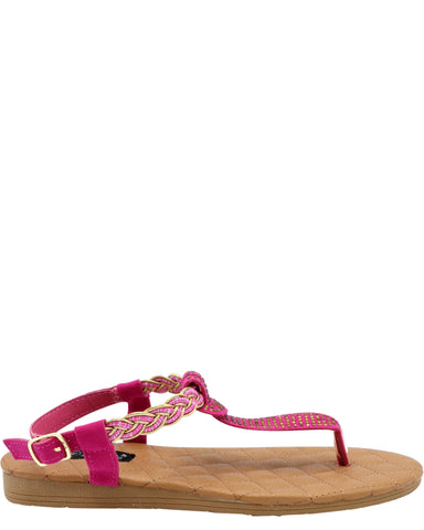 Girl'S Pasty Stones T-Strap Sandals (Available In 2 Colors)