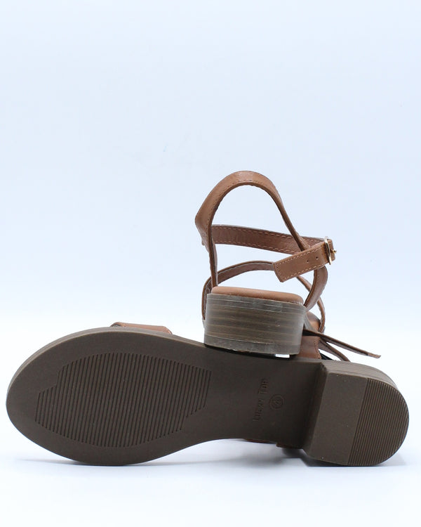 Girls One Band Sandal (Pre School/Grade School) - Tan