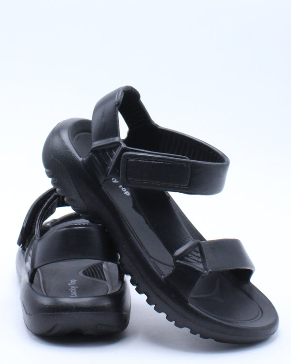 Kid's Light Weight Sporty Sandal (Pre School/Grade School) - Black-VIM.COM