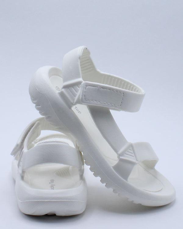 Kid's Light Weight Sporty Sandal (Pre School/Grade School) - White-VIM.COM