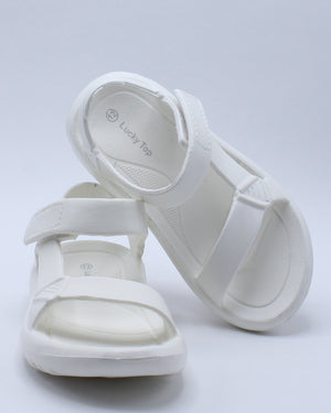 Kid's Light Weight Sporty Sandal (Pre School/Grade School) - White