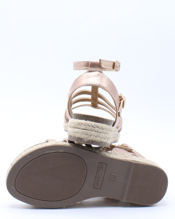 Kid's Gladiator Sandal (Pre School/Grade School) - Rose Gold