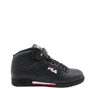 FILA-Men's F-13 Mid Sneaker - Black Red-VIM.COM