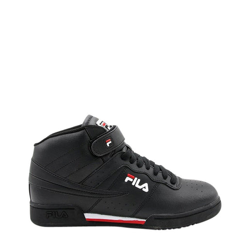 FILA Men'S F-13 Mid Sneaker - Black Red - Vim.com