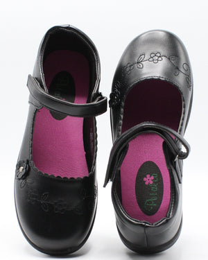 VIM VIXEN Girls Flower School Shoe (Pre School) - Black - Vim.com